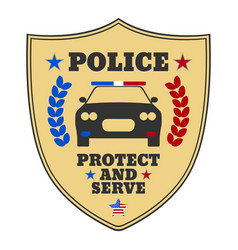 police sign police logo and banner vector image