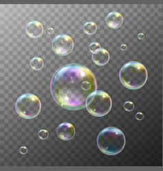 Soap Bubbles Set vector image vector image