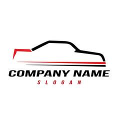 sport automobile logo vector image vector image