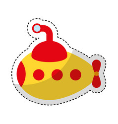 submarine transport isolated icon vector image vector image