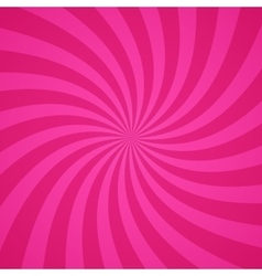 Swirling radial pink pattern background vector image vector image