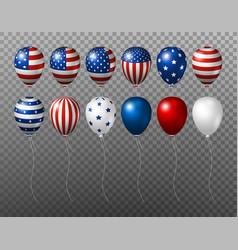usa balloon design of american flag on vector image