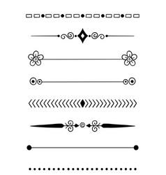 0009 hand drawn dividers vector image