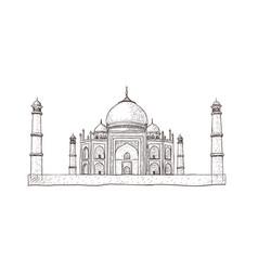 92taj mahal sight of india vector image