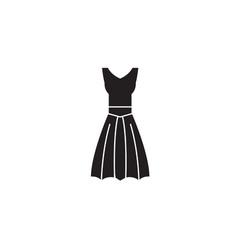 a-line dress black concept icon a-line vector image