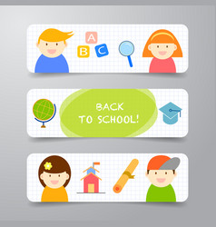 abstract background banner back to school design vector image