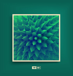 abstract background with spikes cover design vector image