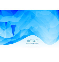 abstract blue wavy shape triangle background vector image