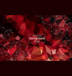 abstract dark red geometric polygonal background vector image