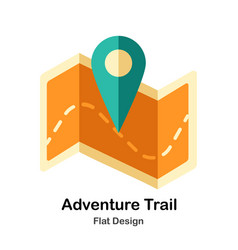 Adventure trail flat icon vector