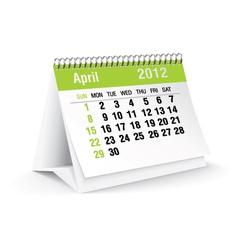 April calendar vector