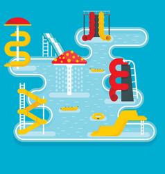 Aquapark concept banner flat style vector
