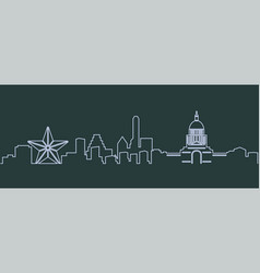 austin single line skyline vector image