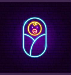 Baby neon sign vector