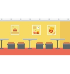 Background of fast food restaurant vector image