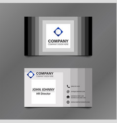 Black and white stack square business card vector