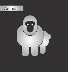 Black and white style icon monkey vector