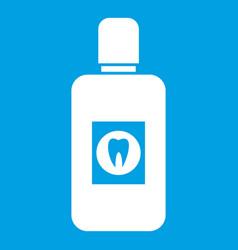 Bottle of mouthwash icon white vector
