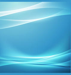 Bright blue swoosh glow wave background vector
