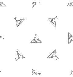 Business mountain target pattern seamless vector