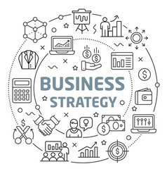business strategy linear slide for vector image