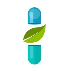 Capsul leaf natural alternative medicine vector