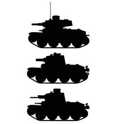 Classic light tanks vector