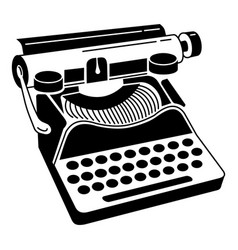 classic typewriter icon simple style vector image