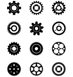 cogs and gear wheels vector image