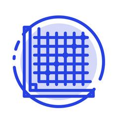 Color correction edit form grid blue dotted line vector