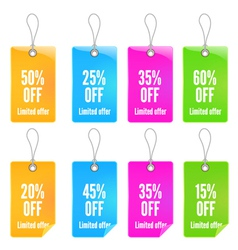 colorful shopping tags set vector image