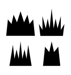 Crown icon collection vector
