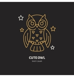 Cute owl Modern line icon of vector