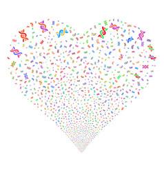 dna spiral fireworks heart vector image