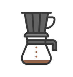 Drip coffee coffee related filled style editable vector