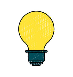 Energy light bulb icon vector