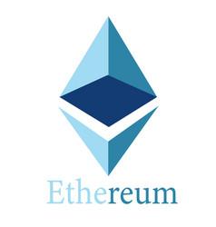 ethereum logotype vector image
