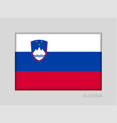 Flag of slovenia national ensign aspect ratio 2 vector