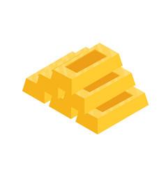 flat gold bar vector image