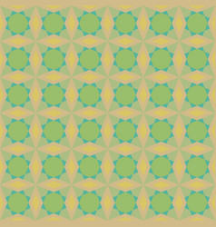 Geometric pattern with green suns vector