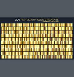 Goldgolden gradientpatterntemplateset vector
