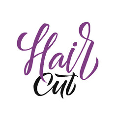 hair studio logo beauty lettering custom vector image