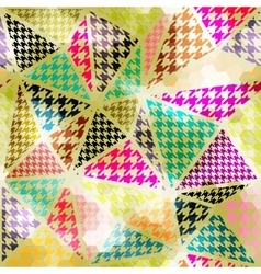 Houndtooth geometric pattern vector