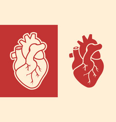 Human heart design icon vector