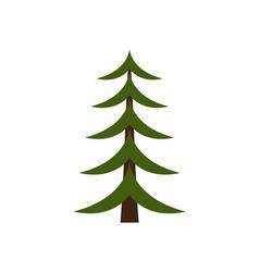 image of christmas tree on vector image