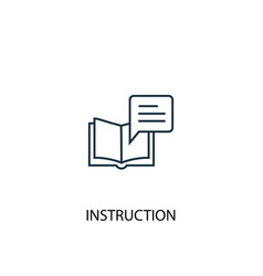 Instruction concept line icon simple element vector