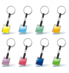 isolated colored key chain set vector image