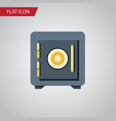 Isolated locked flat icon saving element vector