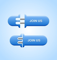 Join us button vector image