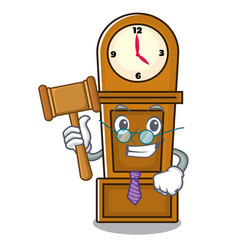 Judge grandfather clock mascot cartoon vector